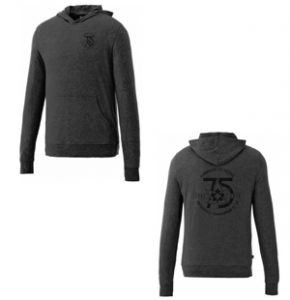 Men's & Ladies Knit Hoody - This hoody features a front pouch, interior media pocket, sleeve cuffs with a thumb exit; ladies provides shaped seams and tapered waist for flattering fit. $50.10