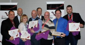 (l-r) Eric Marquis, President and CEO Colin Saravanamuttoo, Renee Rioux Marquis, Douglas Couture, President-Elect, Insurance Brokers Association of Canada Robert Harrison, Marc Nadeau, Atlantic West Division Awards Officer Craig Taggart, Mario Rossignol (photo by Charlie Turner)
