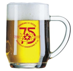20oz. Glass mug suitable for hot and cold liquids. $12.50