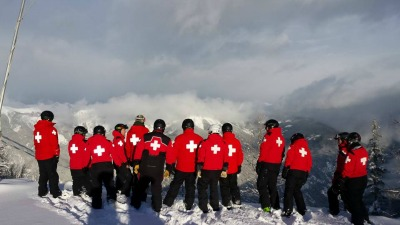 Patrollers receiving hill training at the Summit at Panorama Mountain Village (Photo by Ryan Williams)