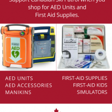 Support the Canadian Ski Patrol with every purchase of first aid supplies